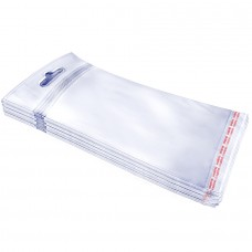 Embalagem  80 x 150 - Bag c/ adesivo + Furo (Pacote com 100 Uni)