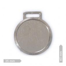 Chapinha p/ Chaveiro em Couro 405 - 9381